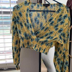 top shop crop blouse